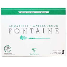 Aquarelle-watercolour-aquarell-fontaine-30x40