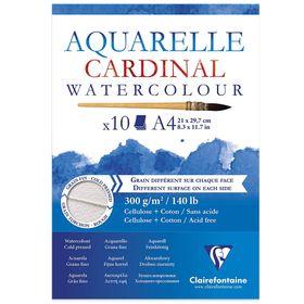 Bloco-aquarelle-Cardinal-watercolour-A4