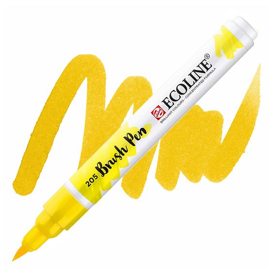 brush-pen-ecoline-talens-205-yellow
