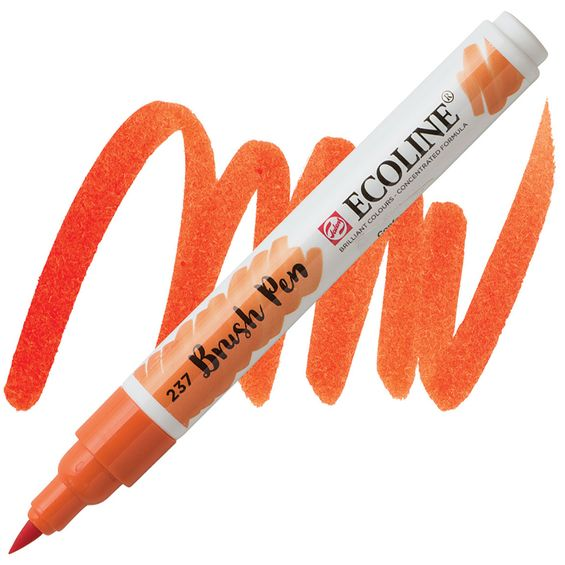 brush-pen-ecoline-talens-237-deep-orange