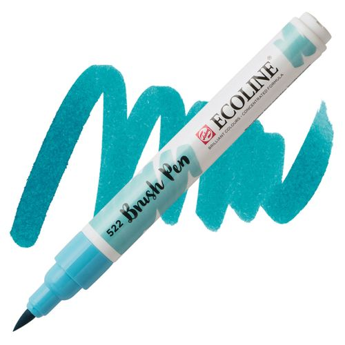 brush-pen-ecoline-talens-522-Turquoise-Blue