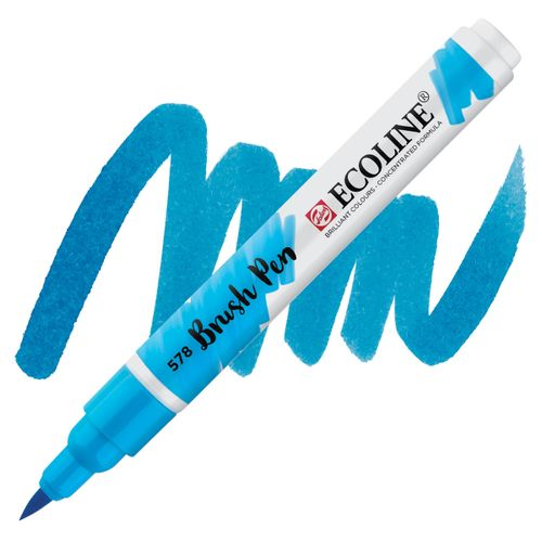 brush-pen-ecoline-talens-578-Sky-Blue