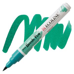 brush-pen-ecoline-talens-602-deep-green