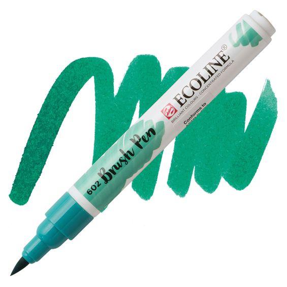 brush-pen-ecoline-talens-602-deep-green