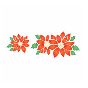 Stencil-de-Acetato-para-Pintura-OPA-10x30cm-1112-Flor-Natalina