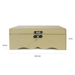 caixa-trabalhada-com-fecho-e-dobradicas-MDF-Madeira-Crua-Tamanho-225-x-13-x-09-cm