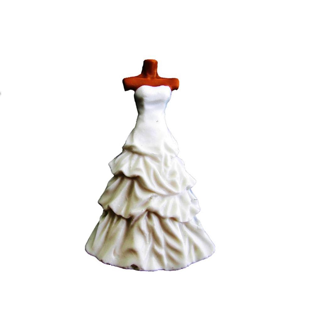 17cd871cb Molde de Silicone para Biscuit Casa da Arte - Modelo: Vestido de Noiva com  Busto 1357