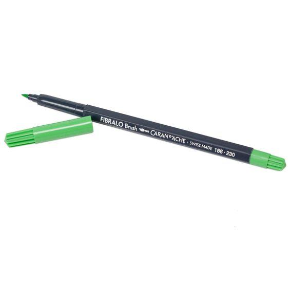Caneta-Aquarelavel-Fibralo-Brush-CarandAche-Verde-Claro-230