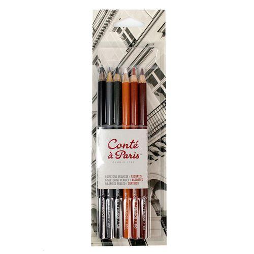 Kit-Lapis-Crayon-Conte--a-Paris-com-6-Cores-50106