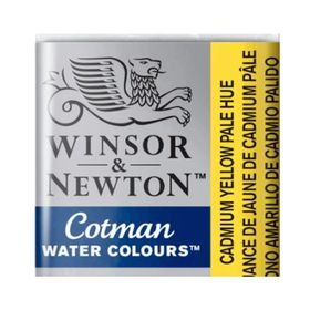 Tinta-Aquarela-Pastilha-Cotman-Winsor---Newton-119-Cadmium-Yellow-Pale-Hue