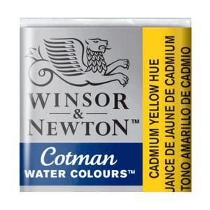 Tinta-Aquarela-Pastilha-Cotman-Winsor---Newton-109-Cadmium-Yellow-Hue