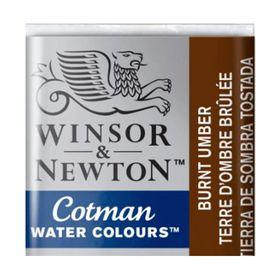 Tinta-Aquarela-Pastilha-Cotman-Winsor---Newton-076-Burnt-Umber