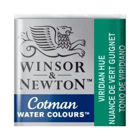 Tinta-Aquarela-Pastilha-Cotman-Winsor---Newton-696-Viridian-Hue