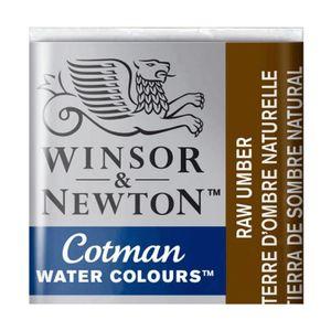 Tinta-Aquarela-Pastilha-Cotman-Winsor---Newton-554-Raw-Umber