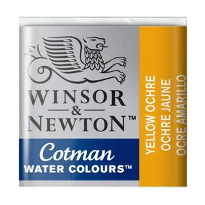 Tinta-Aquarela-Pastilha-Cotman-Winsor---Newton-Yellow-Ochre-744