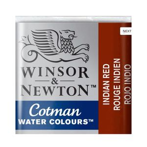 Tinta-Aquarela-Pastilha-Cotman-Winsor---Newton-317-Indian-Red