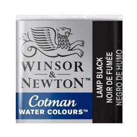 Tinta-Aquarela-Pastilha-Cotman-Winsor---Newton-Lamp-Black-337