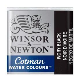 Tinta-Aquarela-Pastilha-Cotman-Winsor---Newton-331-Ivory-Black