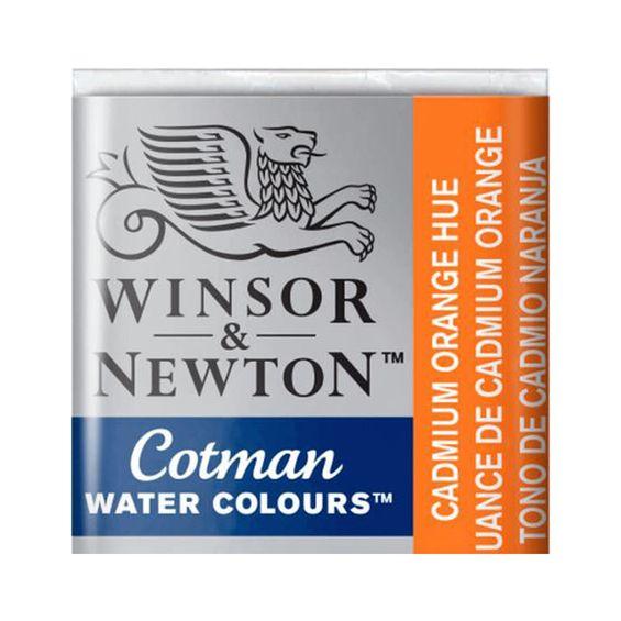 Tinta-Aquarela-Pastilha-Cotman-Winsor---Newton-090-Cadmium-Orange-Hue