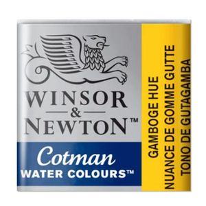 Tinta-Aquarela-Pastilha-Cotman-Winsor---Newton-066-Gamboge-Hue