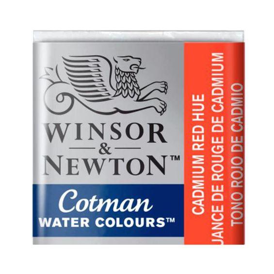 Tinta-Aquarela-Pastilha-Cotman-Winsor---Newton-095-Cadmium-Red-Hue
