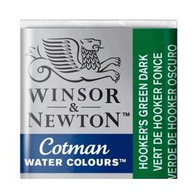 Tinta-Aquarela-Pastilha-Cotman-Winsor---Newton-312-Hook-Green-Dark
