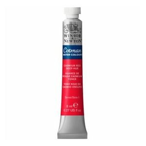 Tinta-Aquarela-Cotman-Winsor---Newton-Tubo-8ml-Cadmium-Red-Deep-Hue-098
