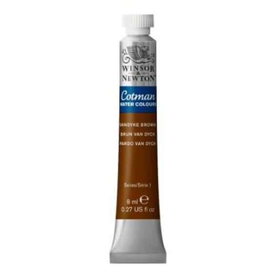 Tinta-Aquarela-Cotman-Winsor---Newton-Tubo-8ml-Wandyke-Brown-676