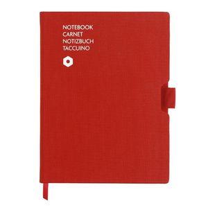 caderno-office-carandache-A5-Canvas-vermelho
