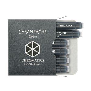 Cartucho-Para-Caneta-Tinteiro-Caran-Dache-Chromatics-Cosmic-Preto-com-6-Cartuchos