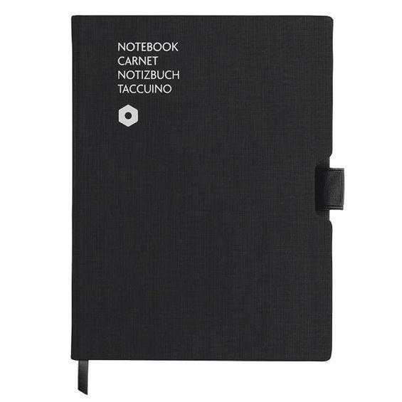 caderno-office-carandache-A5-Canvas-Preto
