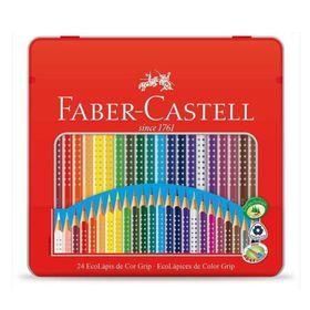 EcoLapis-de-Cor-Grip---Faber-Castell-Estojo-Lata-com-24-Cores---Ref-121024LTN