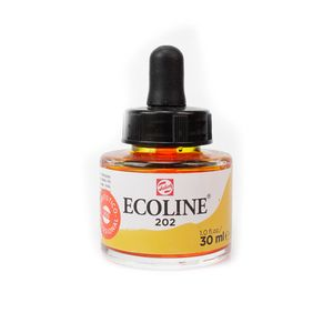 tinta-aquarela-ecoline-talens-deep-yellow-amarelo-escuro-202