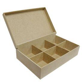 Caixa-de-Cha-com-6-Cavidades-de-MDF-Madeira-Crua---Tamanho-24-x-155-x-07-cm--1-