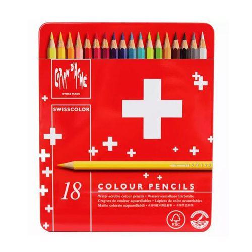Lapis-Aquarelavel-Swisscolor-Caran-D-Ache-18-Cores