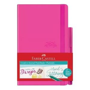 Caderneta_pontilhada_Sketchbook_lettering_faber_-Castell_rosa