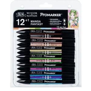 Marcador-Promarker-Winsor---Newton-Manga-Fantasy-13-pecas