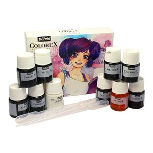 Kit-de-Tintas-Aquarela-Pebeo-Colorex-Inks-for-Design-and-Manga