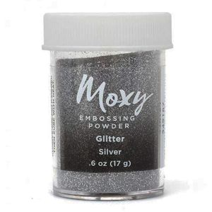 Po-para-Emboss-Moxy-Embossing-Powder-American-Craft-Glitter-Silver-349187