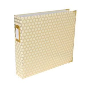 380560-Project-Life-D-Ring-Album-12-inch-X12-inch---Honeycomb-Cream---Gold-2