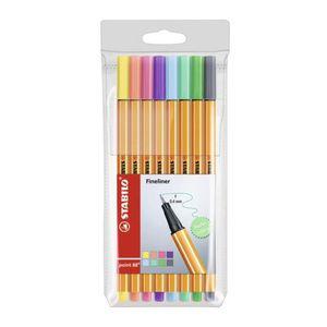 Estojo-de-Caneta-Stabilo-Point-88-Pastel-com-8-Cores-88-8-01