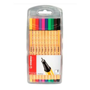 Estojo-de-Caneta-Stabilo-Point-88-Fineliner-com-10-Cores-88-10