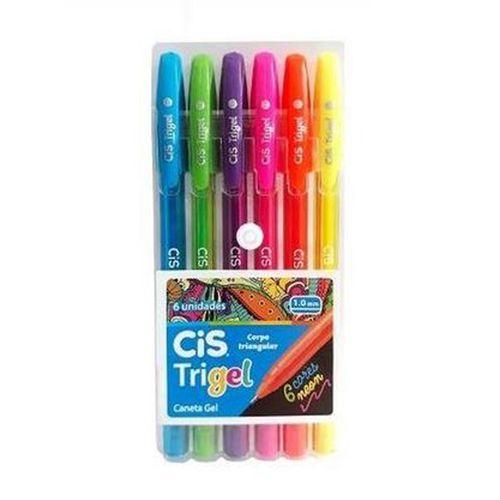 Estojo-de-Caneta-Gel-Trigel-Neon-Cis-1.0-mm-com-6-Cores---4