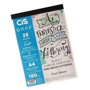 Bloco-de-Lettering-com-Livro-de-Exercicios-Cis-Brush-Lettering-A4-180g