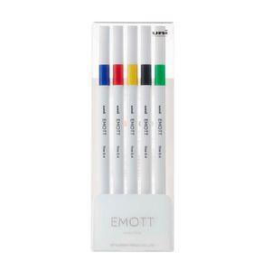 Estojo-de-Canetas-Hidrograficas-Emott-Ever-Fine-Uni-Ball-NR-01-Vivid-Color----04-mm-com-5-Unidades