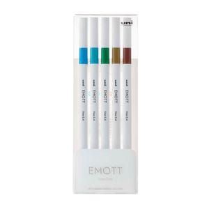 Estojo-de-Canetas-Hidrograficas-Emott-Ever-Fine-Uni-Ball-NR-05-Island-Color----04-mm-com-5-Unidades