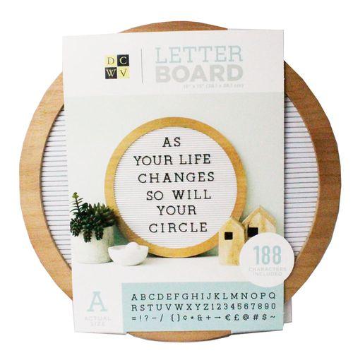 Mural-Letreiro-Circular-Toke-e-Crie-com-188-Carecteres-DCW-Roundwood-Letterboard-21756-WER385