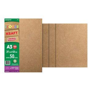 Bloco-Colecao-Ecocores-Kraft-Novaprint-A3---100g-50-Folhas---297-x-420-cm