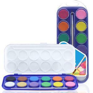 Tinta-Aquarela-Em-Pastilha-Estojo-Com-12-Cores-Cis-para-criancas
