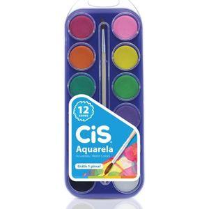 Tinta-Aquarela-Em-Pastilha-Estojo-Com-12-Cores-Cis-para-criancas-3